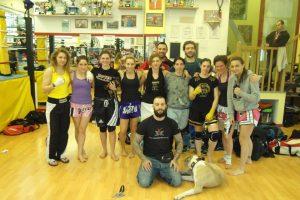 allenamento femminile alla boxe Madone con la ludus magnum